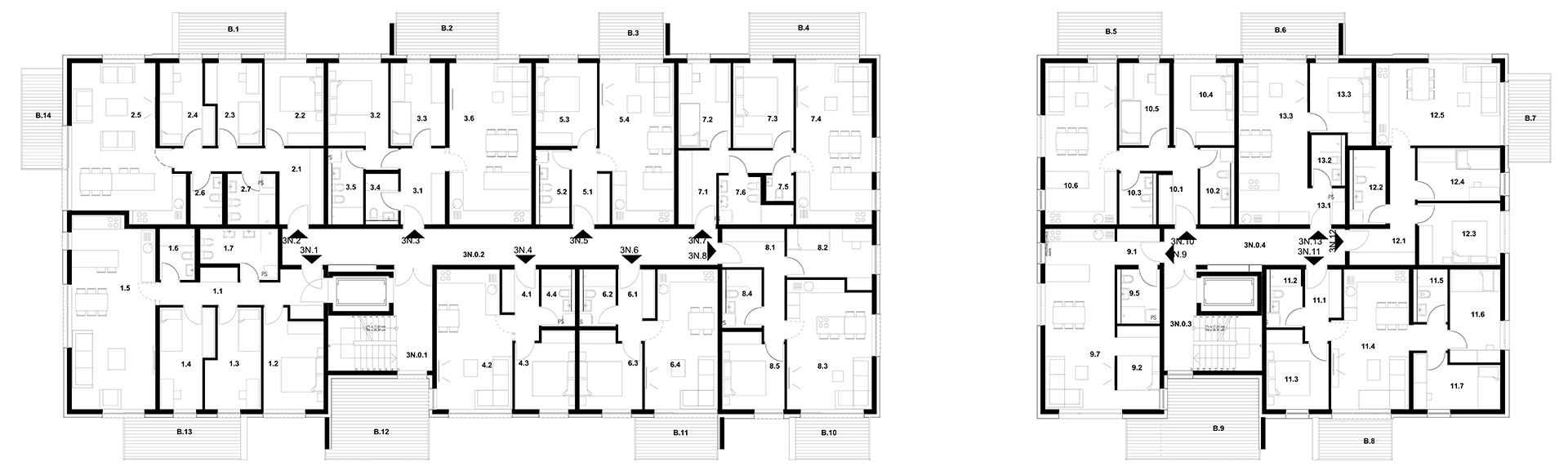 Stavba J 3. Nadstropje