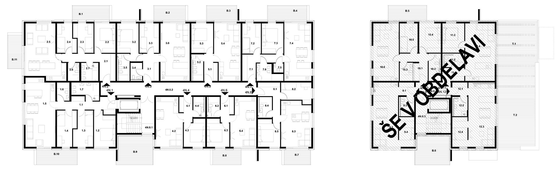 Stavba J 4. Nadstropje